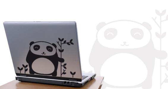 sticker Panda pour PC portable