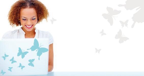 sticker Papillons pour PC portable
