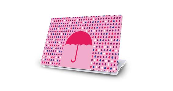 sticker Parapluie rose pour Mac Book
