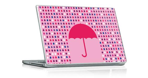 sticker Parapluie Rose pour PC portable