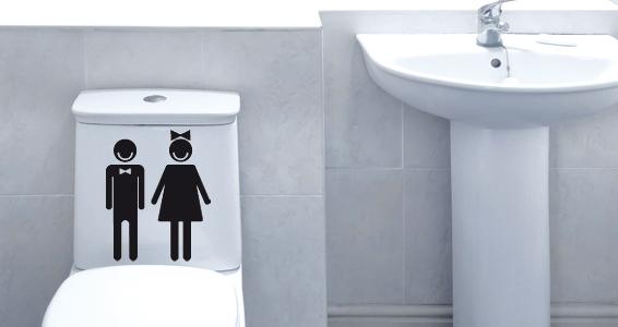 sticker Picto pour WC