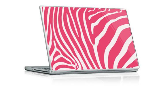 sticker Zèbre rose pour PC portable