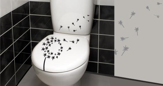 sticker Pissenlit pour WC
