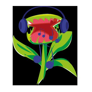 sticker plante carnivor musique