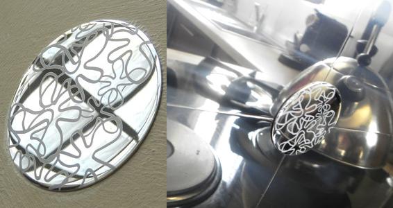 Décors de mur aluminium miroir adhésifs ronds pour 26€