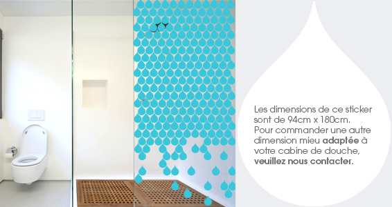 stickers muraux pluie de douche sticker d coration murale. Black Bedroom Furniture Sets. Home Design Ideas
