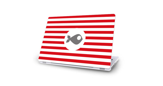 sticker Rayures rouges pour Mac Book