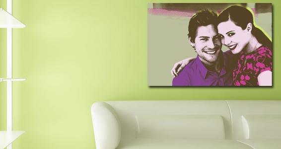 Pop art couple pour 82€