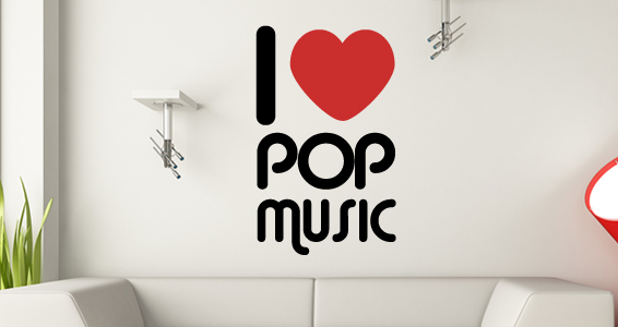 sticker Love Pop Music