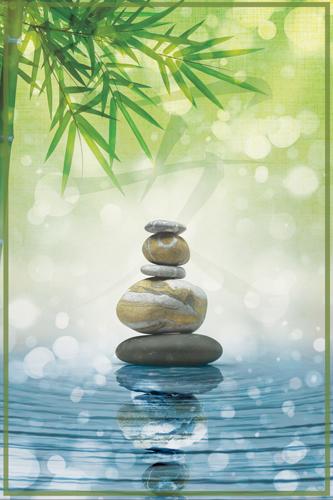 Stickers muraux poster zen tranquillit sticker d coration murale - Image zen nature ...