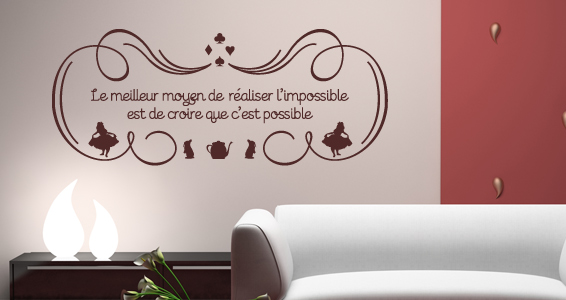 stickers muraux r aliser l 39 impossible sticker d coration murale. Black Bedroom Furniture Sets. Home Design Ideas
