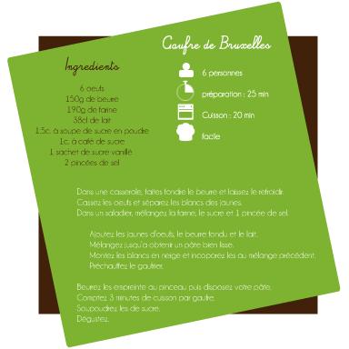recette de gaufre