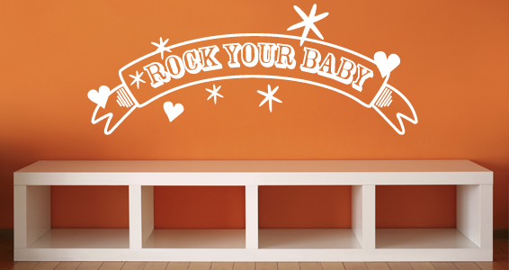 sticker Rock your baby