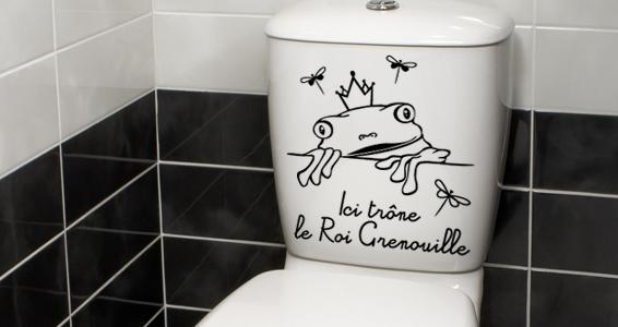 stickers bain wc. Black Bedroom Furniture Sets. Home Design Ideas