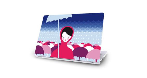 sticker Sous la pluie pour Mac Book
