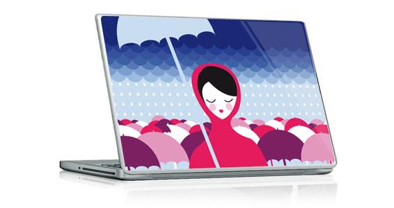 sticker Sous la pluie pour PC portable