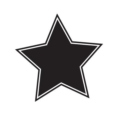 sticker Sticker Ardoise étoile
