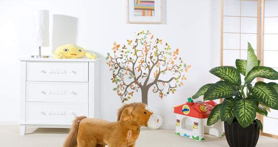 sticker arbre fantaisie couleur