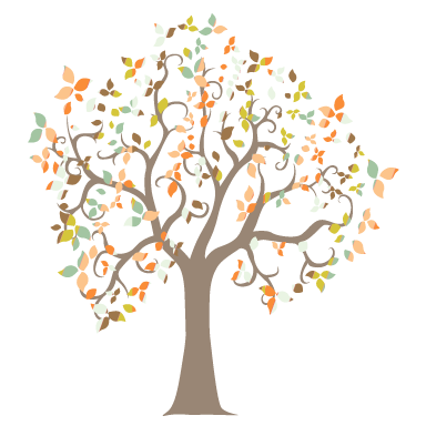 stickers muraux arbre fantaisie couleur sticker