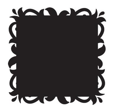 sticker Sticker Ardoise baroque