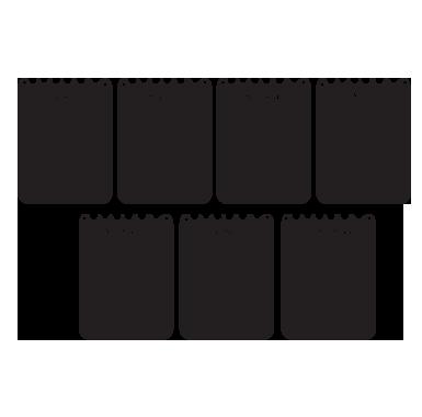 sticker Sticker Ardoise calendrier hebdomadaire