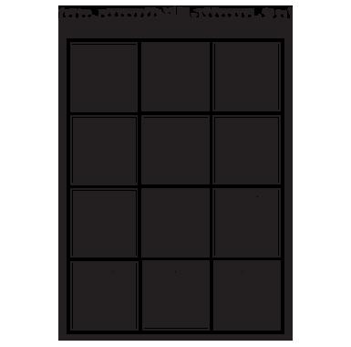 sticker Sticker Ardoise calendrier mensuel