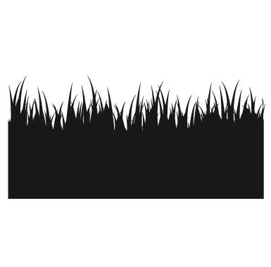 sticker Sticker Ardoise frise dans l'herbe