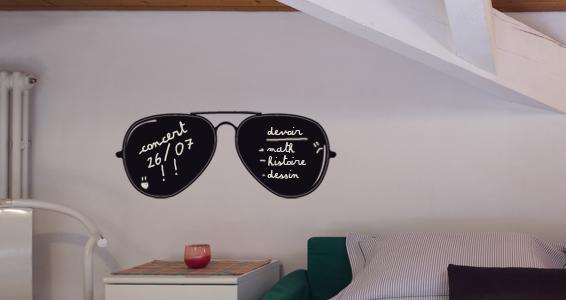 sticker Sticker Ardoise lunettes