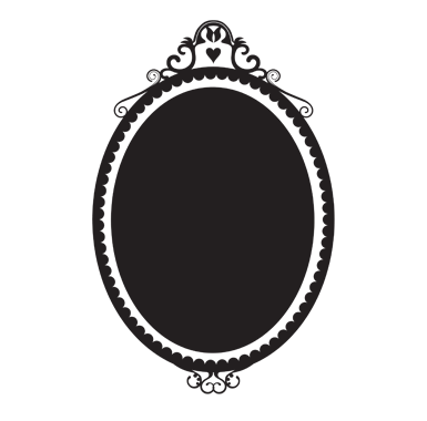 Stickers muraux sticker ardoise miroir de princesse for Miroir princesse
