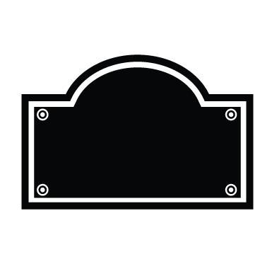 sticker Sticker Ardoise plaque de rue