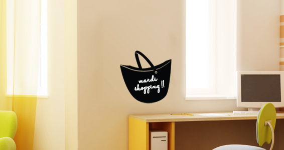 sticker Sticker Ardoise sac