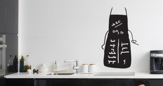 best sticker ardoise tablier with memo ardoise cuisine. Black Bedroom Furniture Sets. Home Design Ideas