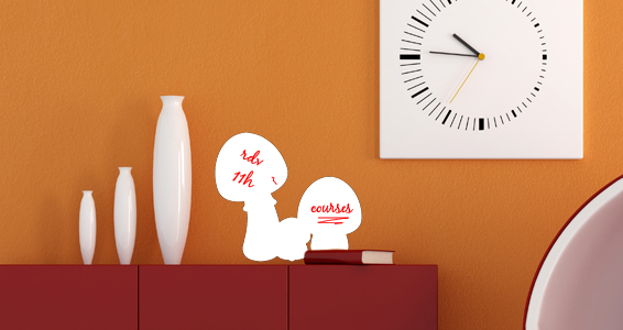 sticker Sticker Ardoise velleda champignons