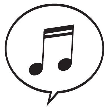 sticker Sticker bulle BD musique