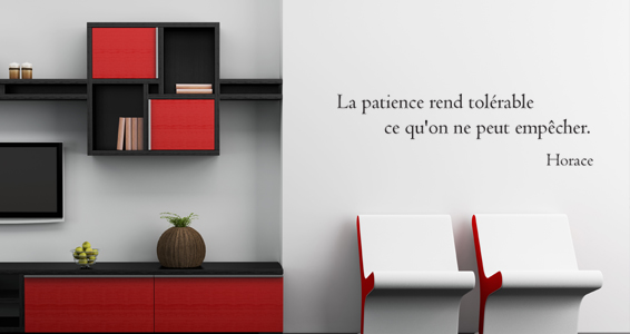 Citation la patience selon horace