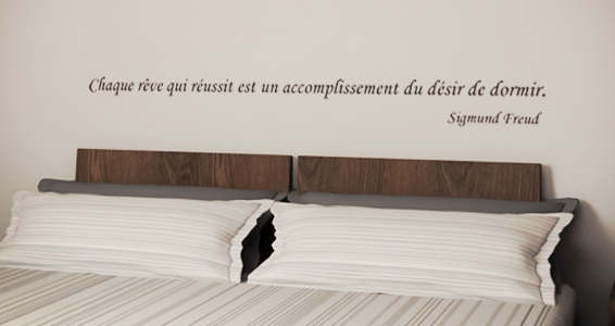 Stickers muraux citation r ve et accomplissement sticker d coration murale - Stickers muraux citations chambre ...