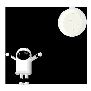 sticker cosmonaute