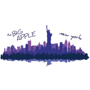 sticker frise big apple new york