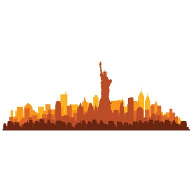 sticker frise new york