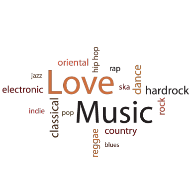 sticker Love music