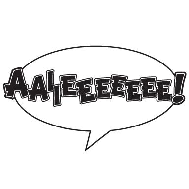 sticker Sticker bulle BD AIE