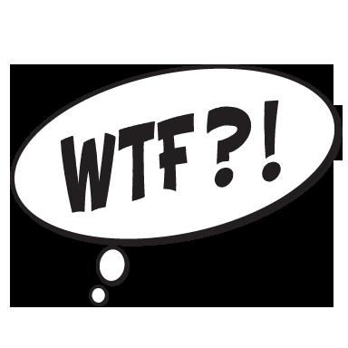 Stickers muraux : Sticker bulle BD WTF - Sticker ...