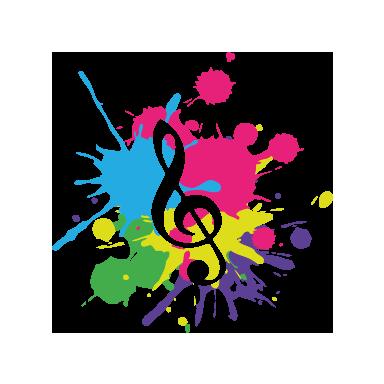 sticker Peinture en musique