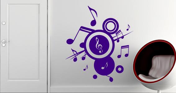 sticker musique en folie
