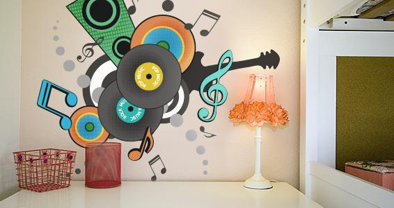 sticker Pop musique r_tro