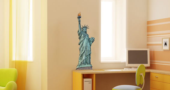 Sticker statue de la libert� 2