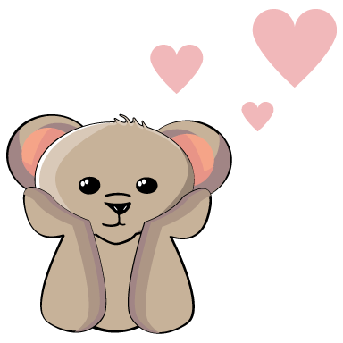 sticker nounours