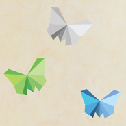 Sticker papillons origami