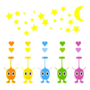sticker kit petits monstres