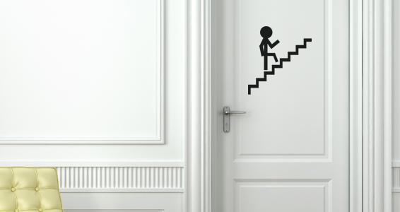 sticker Pictogramme escalier